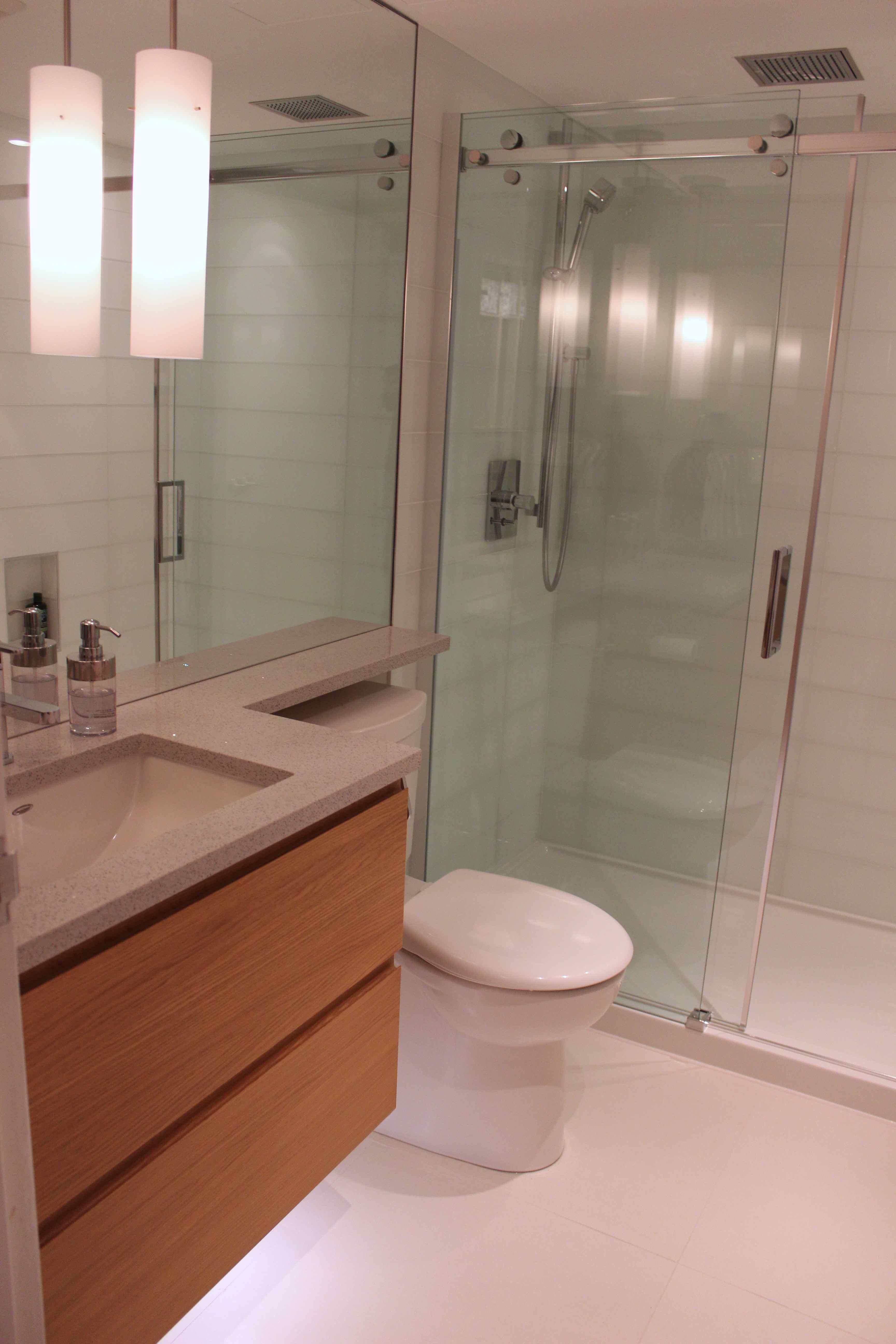 Condo Bathroom Renovation - modern, beautiful and compact