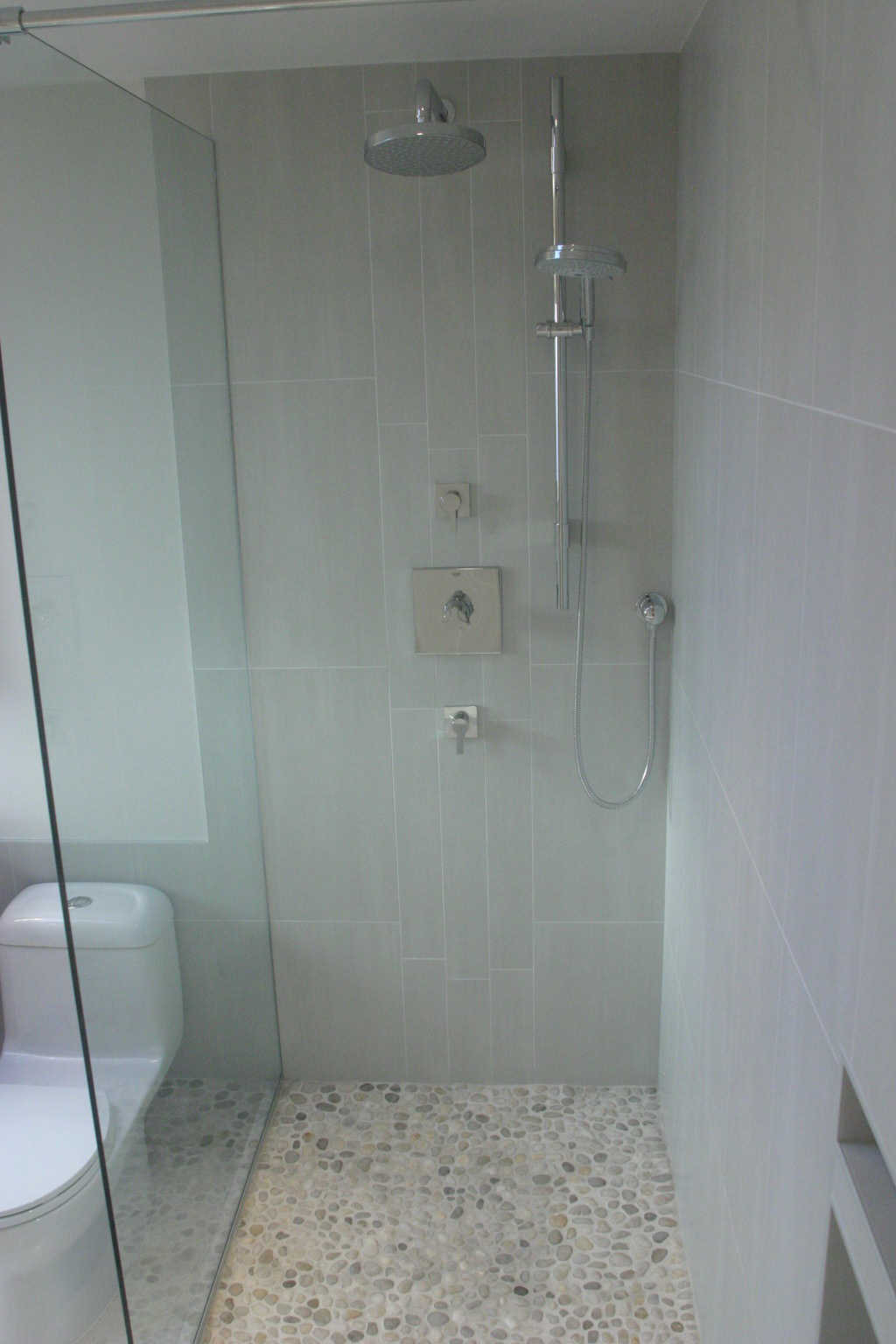 spa bathroom remodel, rain shower, hand shower