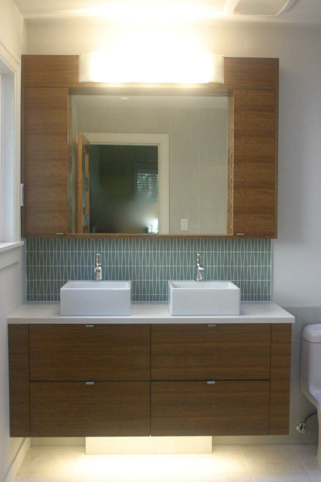 spa bathroom remodel, custom vanity cabinet