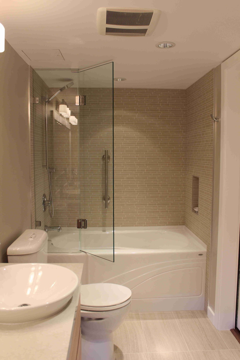 Condo Master Bathroom Remodel Simple And Elegant Skg