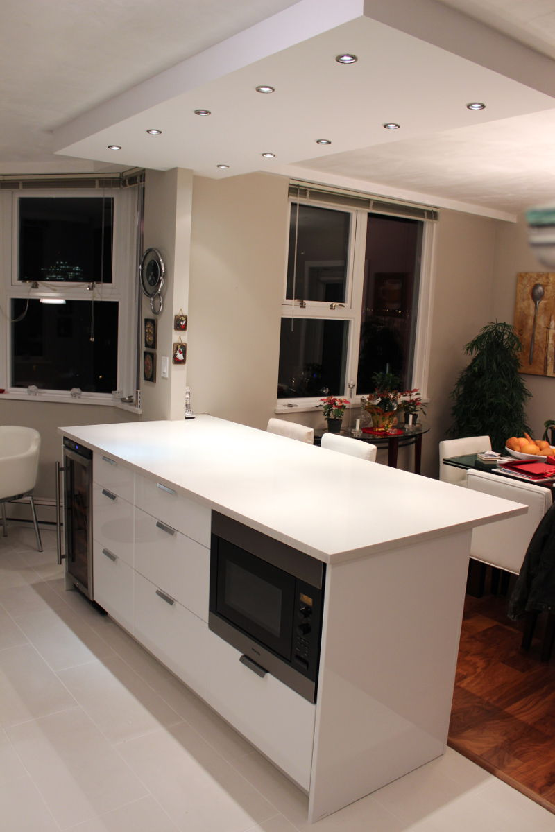 vancouver kitchen island vancouver kitchen renovation a monochromatic marvel in 15311