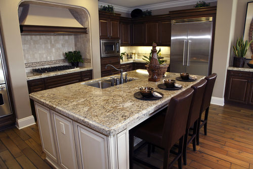 granite vs quartz - mostly grey granite counter pic from shutterstock