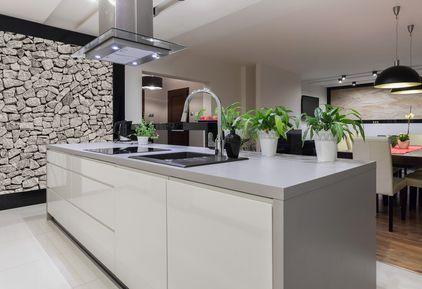 granite vs quartz - grey quartz counter pic from shutterstock