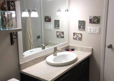 Small bathroom renovation - Pari's-bathroom-vanity-counter-lighting-600W-70